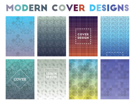 Modern Cover Designs. Admirable geometric patterns. Magnificent background. Vector illustration.