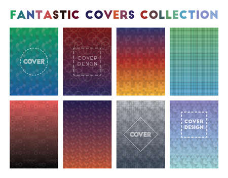 Fantastic Covers Collection. Admirable geometric patterns. Good-looking background. Vector illustration. Illustration