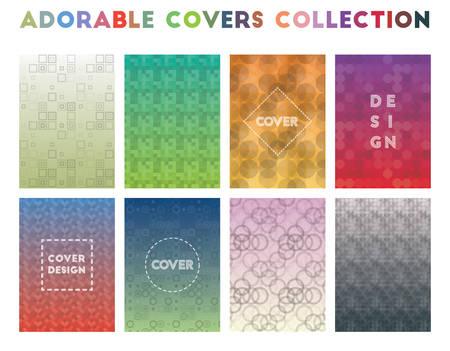 Adorable Covers Collection. Alluring geometric patterns. Fresh background. Vector illustration. Illusztráció
