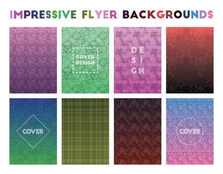 Impressive Flyer Backgrounds. Admirable geometric patterns. Optimal background. Vector illustration.