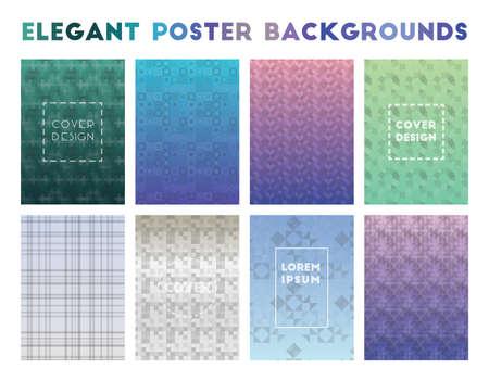 Elegant Poster Backgrounds. Alluring geometric patterns. Valuable background. Vector illustration.