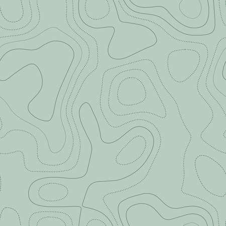 Topographie abstraite. Carte topographique réelle dans les tons verts, conception sans couture, motif à mosaïque magnétique. Illustration vectorielle.