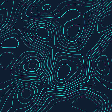 Amazing topography. Admirable topography map. Futuristic seamless design, fabulous tileable isolines pattern. Vector illustration.