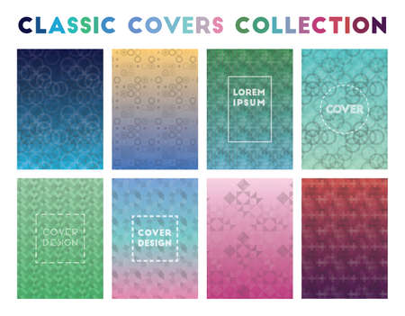Classic Covers Collection. Adorable geometric patterns. Delicate background. Vector illustration.