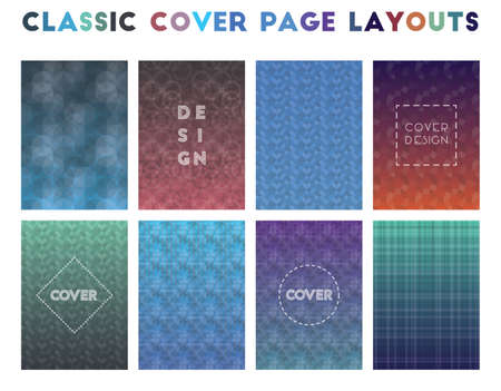 Classic Cover Page Layouts. Alluring geometric patterns. Precious background. Vector illustration. 일러스트