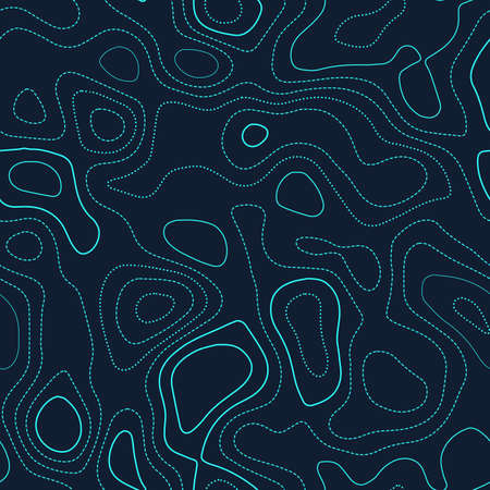 Contour lines. Actual topography map. Futuristic seamless design, artistic tileable isolines pattern. Vector illustration.