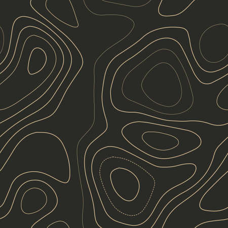 Abstract topography. Admirable topography map. Seamless design. Decent tileable isolines pattern, vector illustration. Ilustração