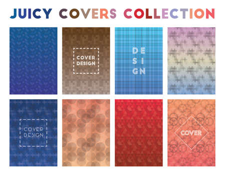 Juicy Covers Collection. Admirable geometric patterns. Captivating background. Vector illustration.