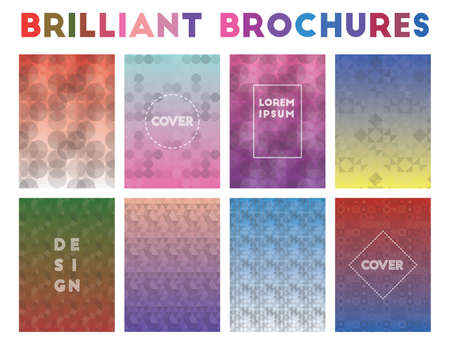 Brilliant Brochures. Admirable geometric patterns. Sublime background. Vector illustration.