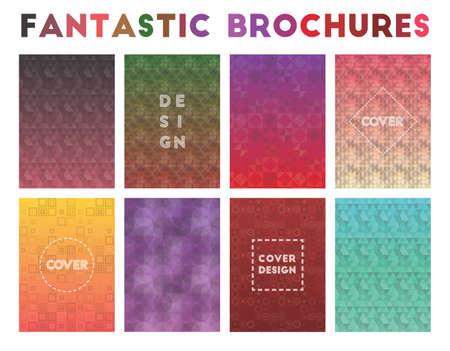 Fantastic Brochures. Admirable geometric patterns. Nice background. Vector illustration.