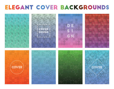 Elegant Cover Backgrounds. Alluring geometric patterns. Unusual background. Vector illustration.
