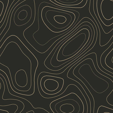 Abstract topography. Admirable topography map. Seamless design. Extraordinary tileable isolines pattern, vector illustration.