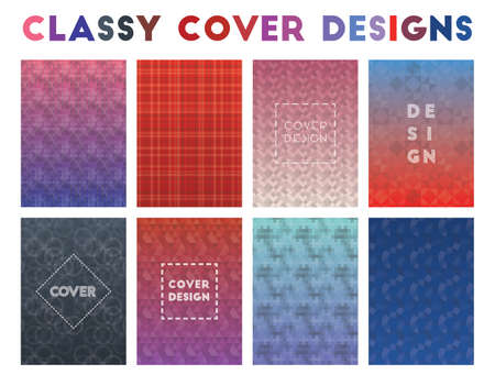 Classy Cover Designs. Alive geometric patterns. Classic background. Vector illustration. Illustration