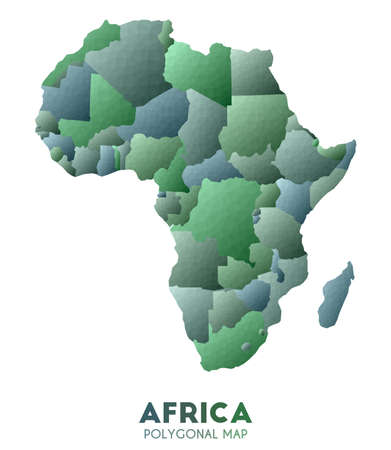 Africa Map. actual low poly style continent map. Awesome vector illustration.