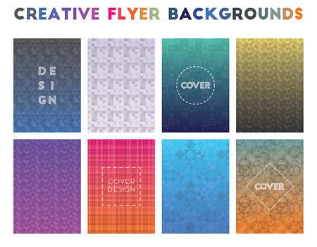 Creative Flyer Backgrounds. Alluring geometric patterns. Imaginative background. Vector illustration. Foto de archivo - 123175265