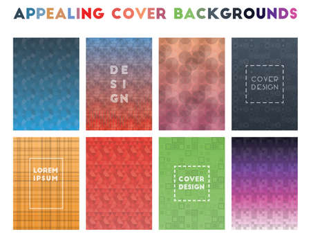 Appealing Cover Backgrounds. Alive geometric patterns. Perfect background. Vector illustration.