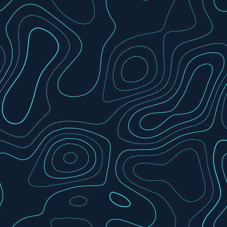 Carte topographique. Admirable carte topographique. Design futuriste sans couture, éminent motif d'isolignes à carreler. Illustration vectorielle.