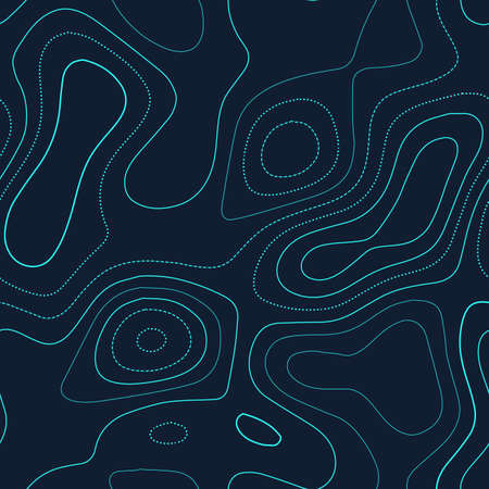 Topographic map. Admirable topography map. Futuristic seamless design, eminent tileable isolines pattern. Vector illustration.
