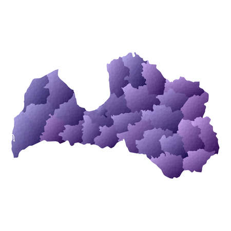 Latvia map. Geometric style country outline. Admirable violet vector illustration.