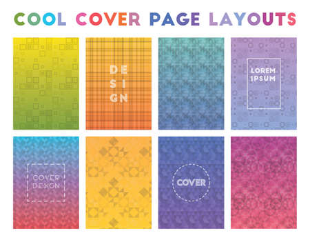 Cool Cover Page Layouts. Actual geometric patterns. Fabulous background. Vector illustration.