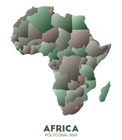 Africa Map. actual low poly style continent map. Amusing vector illustration.