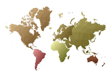 World Map. extraordinary low poly style continents. Vector illustration. 일러스트