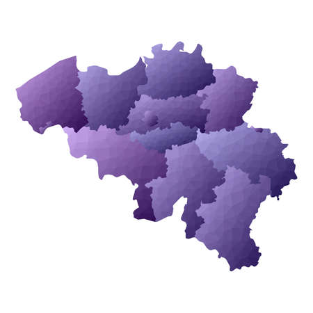 Belgium map. Geometric style country outline. Bold violet vector illustration.