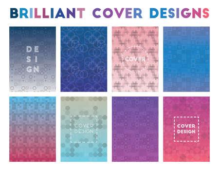 Brilliant Cover Designs. Alluring geometric patterns. Superb background. Vector illustration.