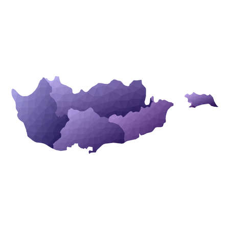 Cyprus map. Geometric style country outline. Favorable violet vector illustration.