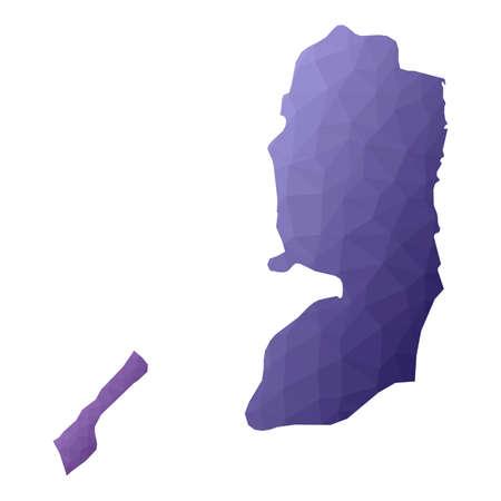 Palestine map. Geometric style country outline. Extra violet vector illustration. Illusztráció