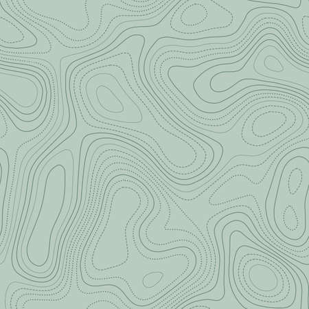 Topographic map. Actual topographic map in green tones, seamless design, tempting tileable pattern. Vector illustration. Illustration