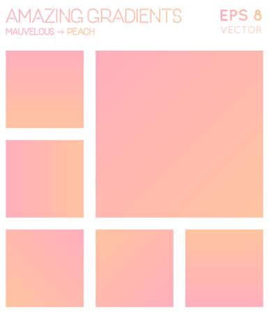 Colorful gradients in mauvelous, peach color tones. Admirable gradient background, shapely vector illustration. Illusztráció