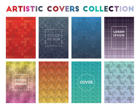 Artistic Covers Collection. Admirable geometric patterns. Beautiful background. Vector illustration.