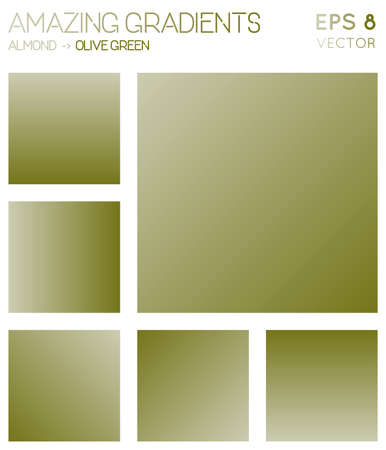 Colorful gradients in almond, olive green color tones. Admirable gradient background, charming vector illustration.