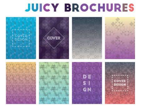 Juicy Brochures. Adorable geometric patterns. Dazzling background. Vector illustration. Ilustrace