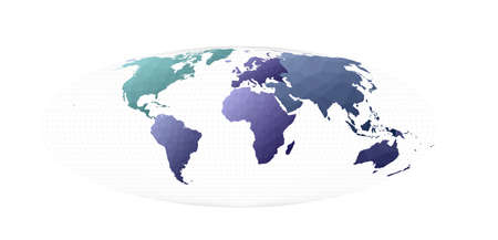 World map. Bromley projection. Pleasing vector illustration. Stock Illustratie