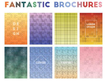 Fantastic Brochures. Alluring geometric patterns. Remarkable background. Vector illustration. Illusztráció