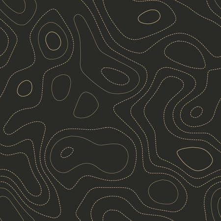 Amazing topography. Actual topography map. Seamless design. Magnificent tileable isolines pattern, vector illustration. 일러스트