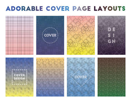Adorable Cover Page Layouts. Adorable geometric patterns. Bewitching background. Vector illustration.