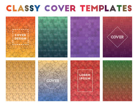 Classy Cover Templates. Actual geometric patterns. Pretty background. Vector illustration.