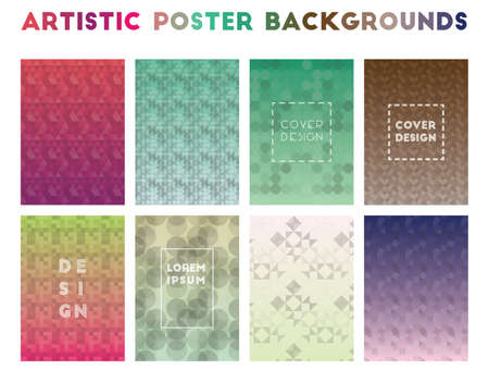 Artistic Poster Backgrounds. Alluring geometric patterns. Artistic background. Vector illustration.
