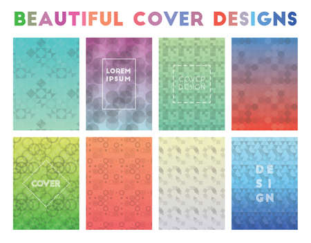 Beautiful Cover Designs. Alluring geometric patterns. Amazing background. Vector illustration.