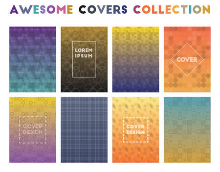 Awesome Covers Collection. Alluring geometric patterns. Marvelous background. Vector illustration.