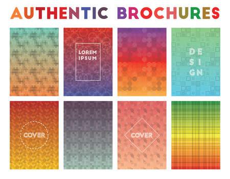 Authentic Brochures. Actual geometric patterns. Memorable background. Vector illustration.