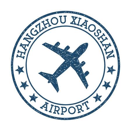 Hangzhou Xiaoshan Airport logo. Airport stamp vector illustration. Hangzhou aerodrome.