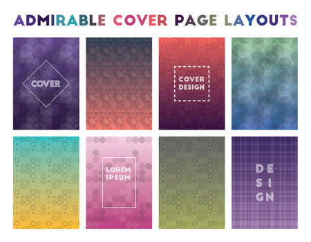 Admirable Cover Page Layouts. Alluring geometric patterns. Worthy background. Vector illustration.