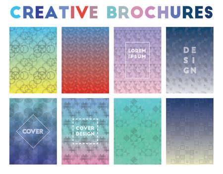 Creative Brochures. Adorable geometric patterns. Fabulous background. Vector illustration. 向量圖像