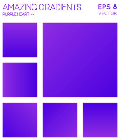 Colorful gradients in purple heart color tones. Adorable gradient background, magnetic vector illustration. Ilustrace