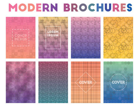 Modern Brochures. Actual geometric patterns. Valuable background. Vector illustration.