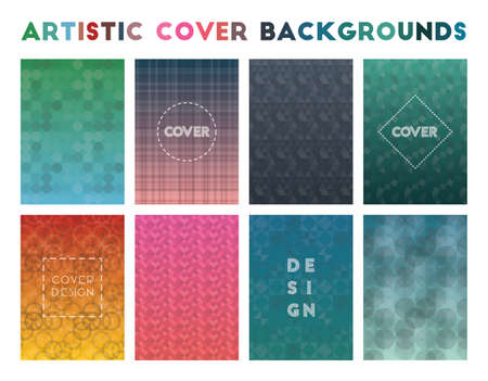 Artistic Cover Backgrounds. Admirable geometric patterns. Appealing background. Vector illustration.